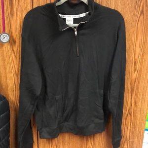 Black Victoria Secret half zipped sweatshirt